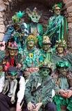 Les gens chez Jack dans le festival vert Image libre de droits
