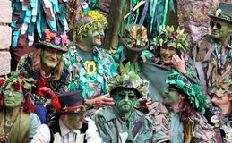Les gens chez le Jack dans le festival vert Images libres de droits