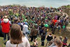 Les gens chez le Jack dans le festival vert Images stock