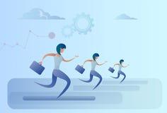 Les gens d'affaires groupent la course Team Leader Competition Concept Photo libre de droits