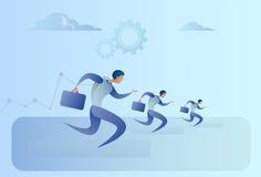 Les gens d'affaires groupent la course Team Leader Competition Concept Images libres de droits