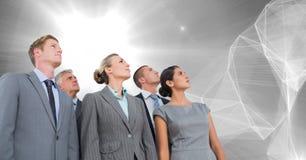 Les gens d'affaires groupent le regard vers le haut Photographie stock