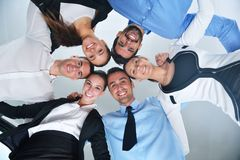 Les gens d'affaires groupent les mains de jointure Photographie stock libre de droits