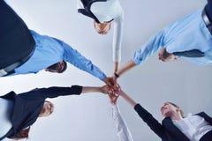 Les gens d'affaires groupent les mains de jointure Photographie stock