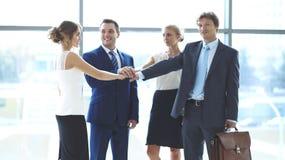 Les gens d'affaires groupent les mains de jointure Photo libre de droits