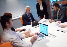 Les gens d'affaires groupent sur la réunion Images libres de droits