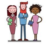 Les gens d'affaires groupent Team Businesspeople divers Illustration Libre de Droits