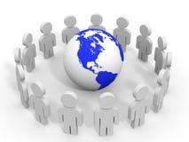 les gens 3d le concept a digitalement produit salut du social de recherche de réseau d'image Image stock