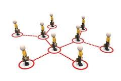 les gens 3d liés au réseau social illustration stock