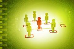 les gens 3d liés au réseau social illustration de vecteur