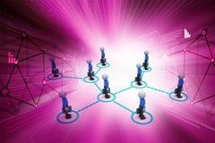les gens 3d liés au réseau social illustration libre de droits