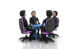 les gens 3d lors de la réunion d'affaires Photos stock