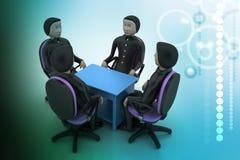 les gens 3d lors de la réunion d'affaires Images stock