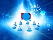 les gens 3d parlant avec des bulles de la parole Images stock