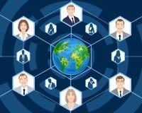 Les gens dans des affaires globales Image libre de droits