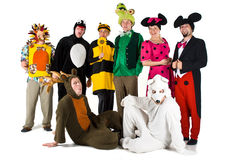 Les gens dans des costumes Image libre de droits