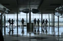 Les gens dans l'aéroport Photo libre de droits