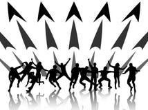 Les gens dans l'action Image libre de droits