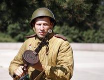 Les gens dans la guerre Photo stock
