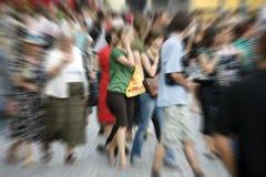 Les gens dans la tache floue Images libres de droits