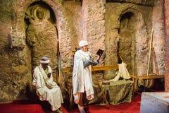 Les gens dans LALIBELA, ETHIOPIE photos libres de droits