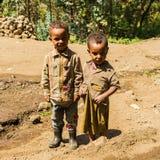 Les gens dans LALIBELA, ETHIOPIE Images libres de droits