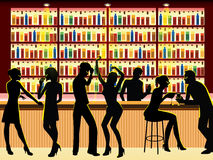 Les gens dans le bar Photos libres de droits