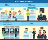 Les gens dans le calibre plat d'Infographic de banque Photo stock