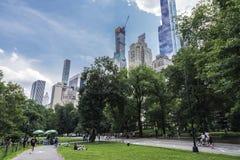 Les gens dans le Central Park, New York City, Etats-Unis photographie stock