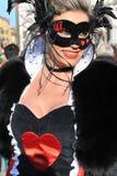 Les gens dans le costume de luxe à Venise, Italie 2015 Photo libre de droits