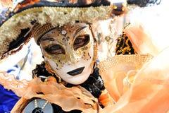 Les gens dans le costume de luxe à Venise, Italie 2015 Images libres de droits