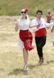 Les gens dans le costume folklorique traditionnel Images stock