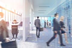 Les gens dans le couloir de bureau, double Photos libres de droits