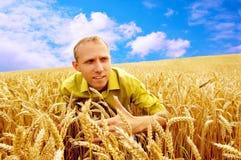 Les gens dans le domaine de blé Photos stock