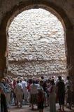 Les gens dans le musée archéologique Image libre de droits