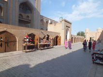 Les gens dans le secteur historique de Khiva Images libres de droits