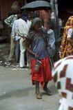 Les gens dans les rues de l'Inde Images stock