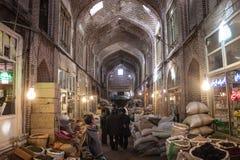 Les gens dans un bazar Photo stock