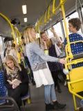 Les gens dans un bus Photographie stock