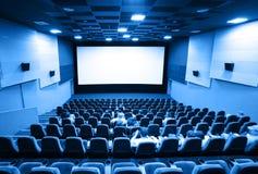 Les gens dans un cinéma Photographie stock libre de droits