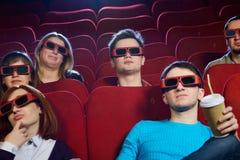 Les gens dans un cinéma Photo stock