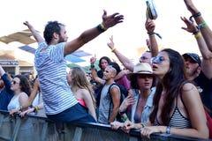 Les gens dans un concert au festival de sonar Photo libre de droits