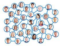 Les gens dans un réseau social Photo libre de droits