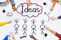 Les gens dans une réunion et des idées de Word simple Photographie stock