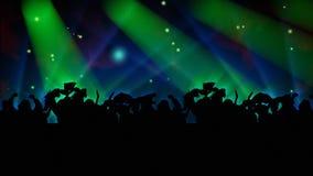 Les gens dansant à un concert illustration stock