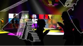 Les gens dansant dans une boîte de nuit illustration libre de droits