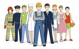 Les gens de différentes professions Images libres de droits