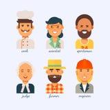 Les gens de différentes professions sur un fond blanc Photographie stock