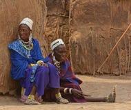 Les gens de la tribu de Maasai, Tanzanie Image libre de droits