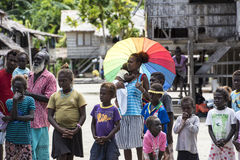 Les gens de Priumeri, Solomon Islands Photographie stock libre de droits